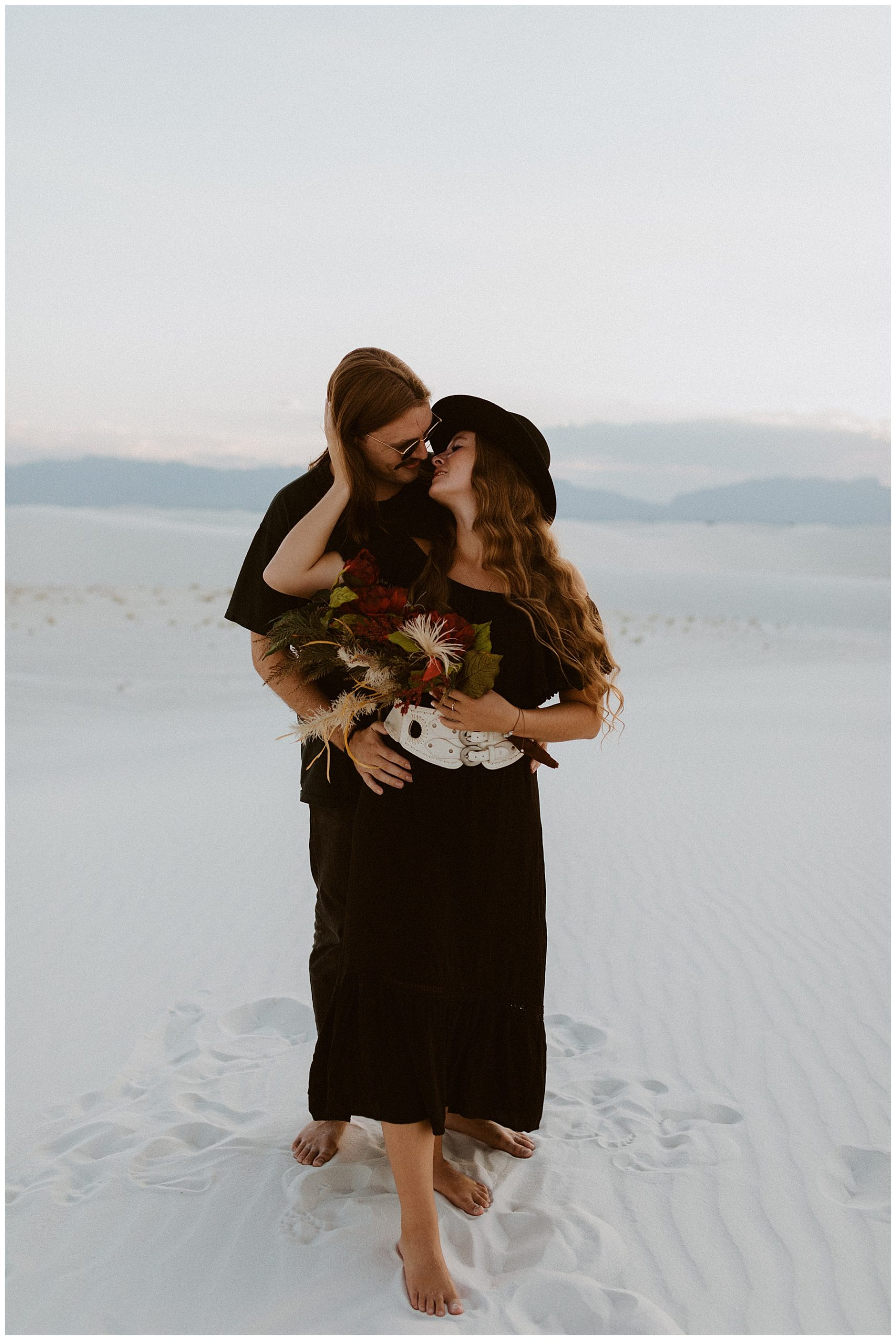 White Sands Sunset Adventure Engagement Photography